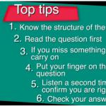 เคล็ดลับ 6 ข้อสำหรับการสอบทักษะ การฟัง